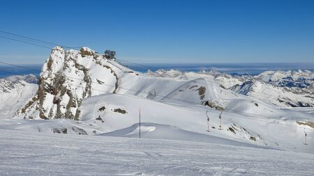 saanenland: Glacier de Diablerets summit station, Scex Rouge Stock Photo