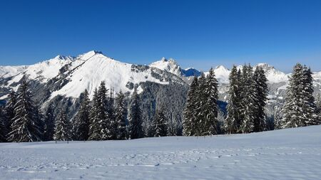 gstaad: Winter landscape near Gstaad