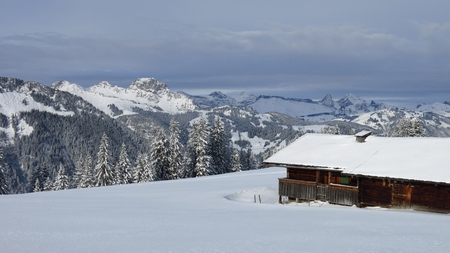 saanenland: Idyllic winter scenery in the Bernese Oberland