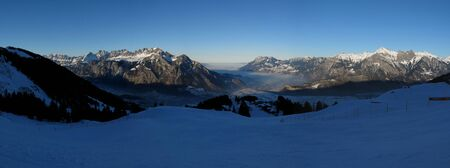 sargans: Sunset view from the Pizol ski area
