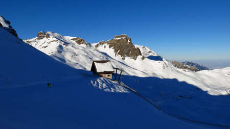 Ski Area: Winter day in the Flumserberg ski area