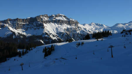 Ski Area: Hochfinsler, view from the Flumserberg ski area