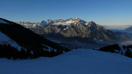 sargans: Evening scene in the Pizol ski area