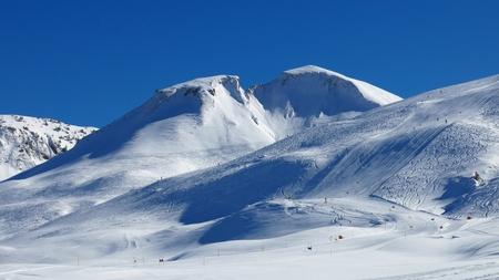Mountain and ski slopes photo