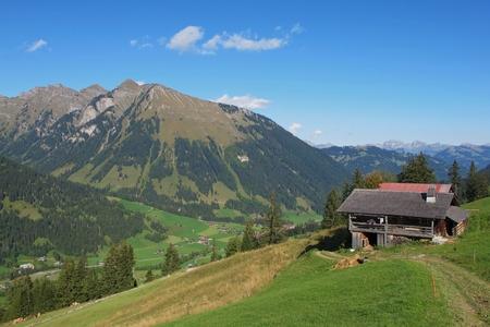 Rural landscape near Gstaad. Stock Photo