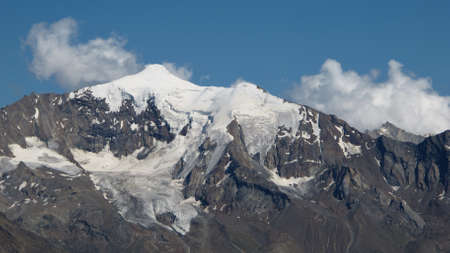saas fee: Piz D ?ndolla, high mountain in Saas Fee