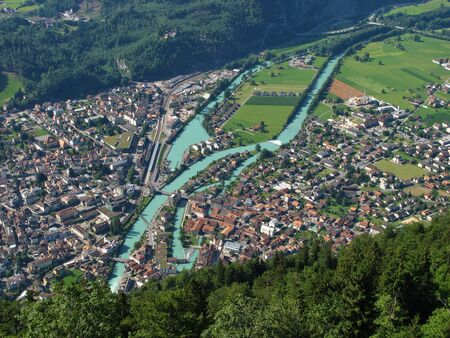 Interlaken, town in the Bernese Oberland photo