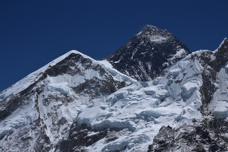 everest: Peak of Mt Everest Stock Photo