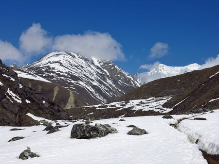 ri: View of Gokyo Ri, famous trekking destination in the Everest Region