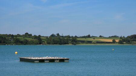 dyllic: Swimming platform on lake Pfaffikon