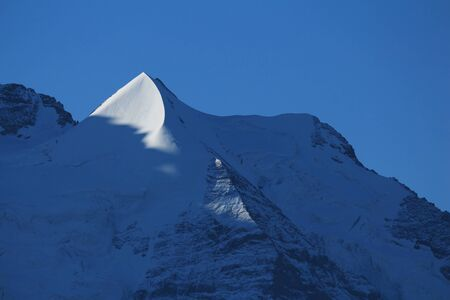 pointed: Pointed mountain Peak next to Mt Jungfrau