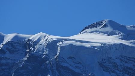 jungfraujoch: Glacier on the Jungfraujoch Stock Photo