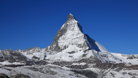 onset: Onset of winter in Zermatt, Matterhorn