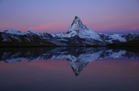 matterhorn: Pink morning sky over the Matterhorn