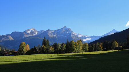 saanenland: Scenery near Gstaad Stock Photo