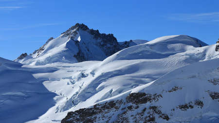 jungfraujoch: Mt Gletscherhorn, view from the Jungfraujoch