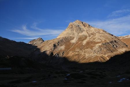 minor: Piz Minor, mountain seen from the Bernina railway