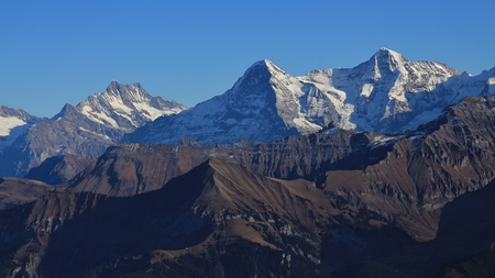 eiger: Majestic mountains Eiger, Monch and Jungfrau