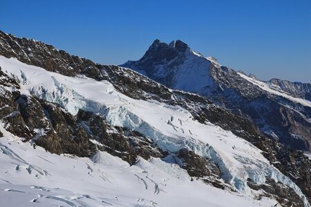jungfraujoch: Glacier and high mountain, view from the Jungfraujoch