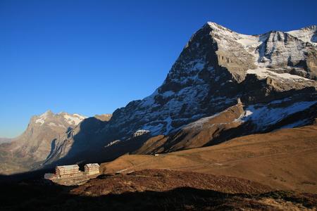 eiger: Mt Eiger, Eiger North Face and old hotels