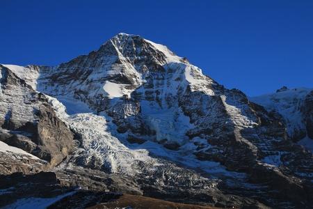 monch: Famous mountain Monch and glacier