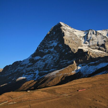 eiger: Eiger North Face and train