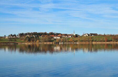 idyllic: Idyllic landscape at Lake Pfaffikon