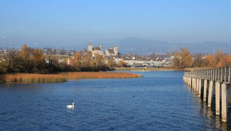 st gallen: November day in Rapperswil