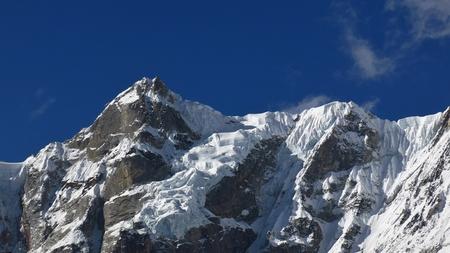 himalayas: Nierekha Peak, high mountain in the Himalayas