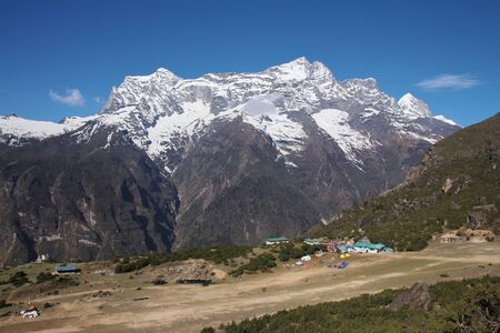 Syangboche airport, Everest National Park Stock Photo