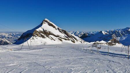 canton berne: Ski slope and Mt Oldenhorn