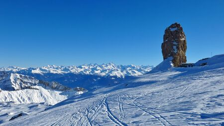 saanenland: Winter day on the Glacier De Diablerets