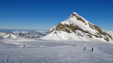 canton berne: Ski slope and Mt Oldenhorn, Glacier De Diablerets