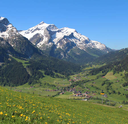 saanenland: Spring time in the Swiss Alps