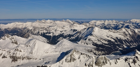 saanenland: Snow covered mountains, view from Glacier De Diablerets