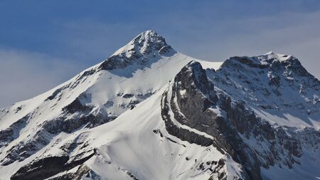 saanenland: Snow capped peak of Mt Oldenhorn