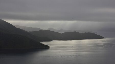australasia: Gray day in the Marlborough Sounds