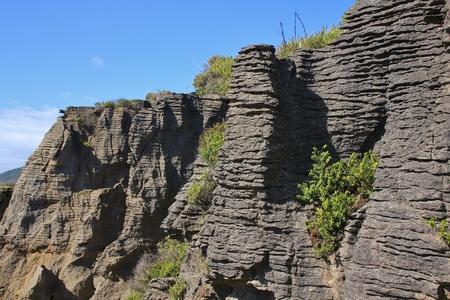 aotearoa: Rock formations in Punakaiki, South Island of New Zealand.