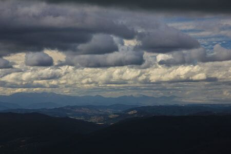 robert: Cloudy day in the Southern Alps. View from Mt Robert, New Zealand.