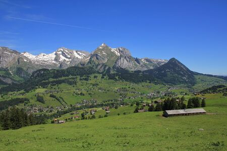 toggenburg: Landscape in the Swiss Alps. Stock Photo