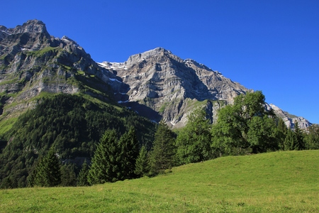 glarus: High mountain in Glarus Canton, Switzerland. Mt Glarnisch.