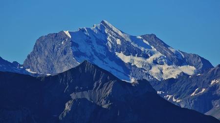 canton berne: Mt Wildstrubel in Summer. High mountain in Switzerland.