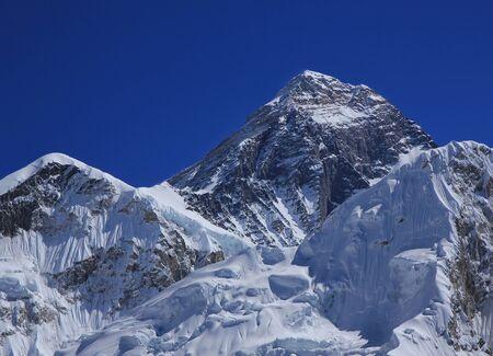 mount everest: Mount Everest in autumn. Stock Photo