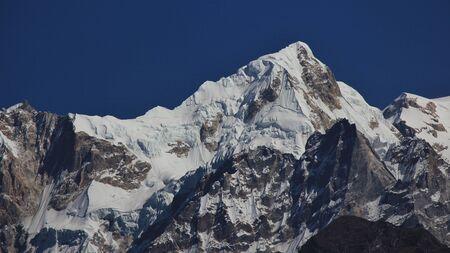 High mountain next to mount Manaslu, Nepal. Stock Photo
