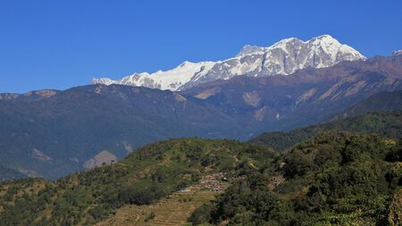 Annapurna range seen from Baglungpani, Nepal.