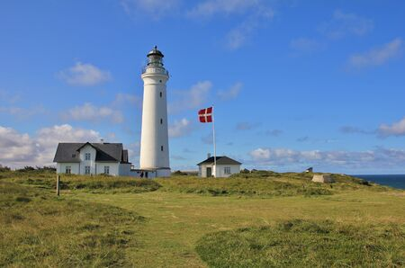 Old light house at the west coast of Denmark. Hirtshals.
