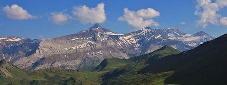 Mount Oldenhorn in summer. Scene near Gstaad, Switzerland.