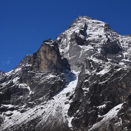 Sacred mountain Khumbi Yul Lha, Nepal.