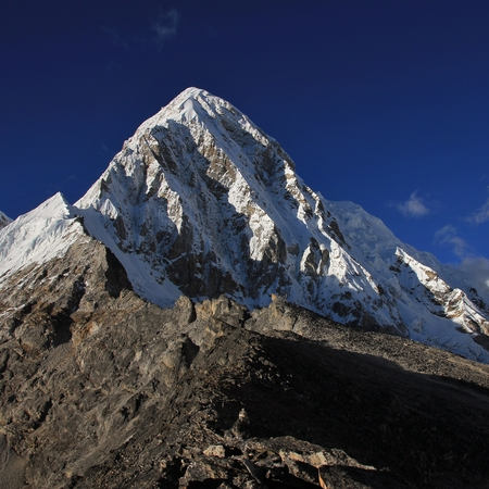 Kala Patthar and Mount Pumori, beautiful mountain in the Everest National Park, Nepal.