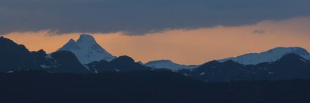 Toedi at sunset, view from Obermutten.